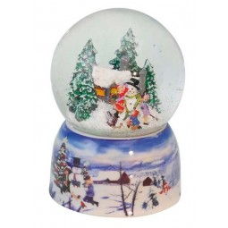 "Snowglobe ""Kids making a snowman"""