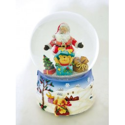Snowglobe Santa & Bear in the box