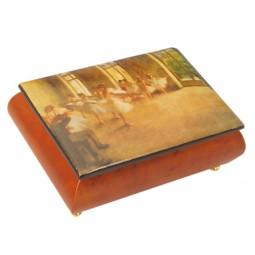 Boîte à bijoux en bois aves scène de ballet