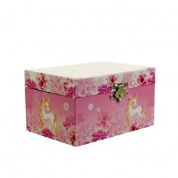 Boîte à bijoux rose licorne
