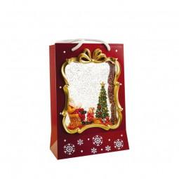 Boîte à musique sac de Noël rouge