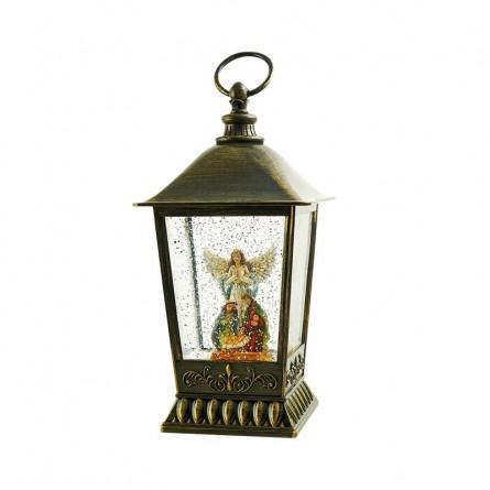 de lanterne avec scène de crèche gardée par l'archange