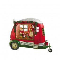 Boîte à musique caravane du Père Noël