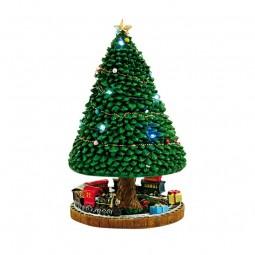 Boîte à musique sapin de Noël illuminé