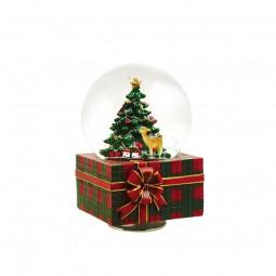 Boule musicale sur paquet-cadeau