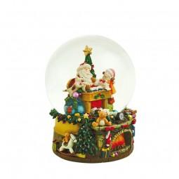 Boule musicale Père Noël