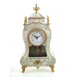 Horloge de cheminée blanche