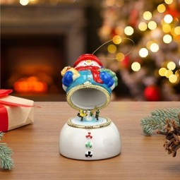 Porcelain Music Boxes – Snowman