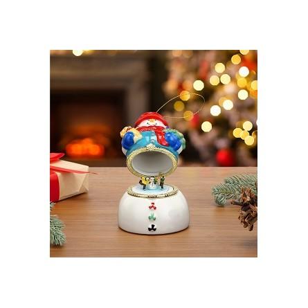 Porcelain Music Boxes – Snowman