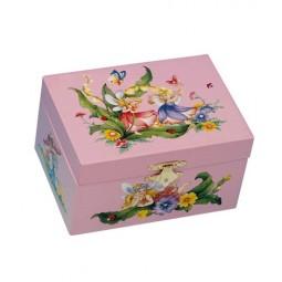 Boîte à bijoux Fées rose