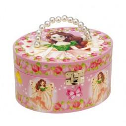 Pochette ovalee rose avec fée