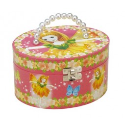 Boîte à bijoux ovale style sac à mains