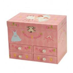 Boîte à bijoux ballerine avec quatre tiroirs