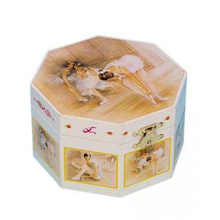 Boîte à bijoux octogonal