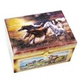Coffret à trésors chevaux