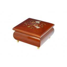 Boîte à bijoux carrée violon