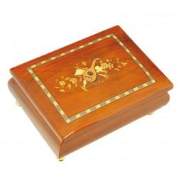 Boîte à bijoux classique simili marqueterie 180 mm