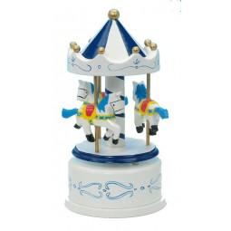 Manège en bois bleu/blanc 170 mm