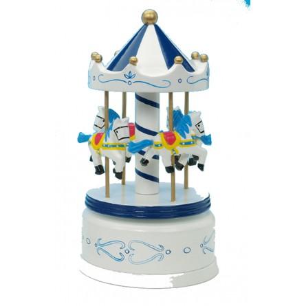 Manège en bois bleu/blanc 210 mm