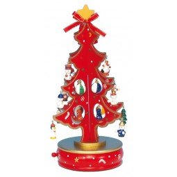 Sapin de Noël rouge 280 mm