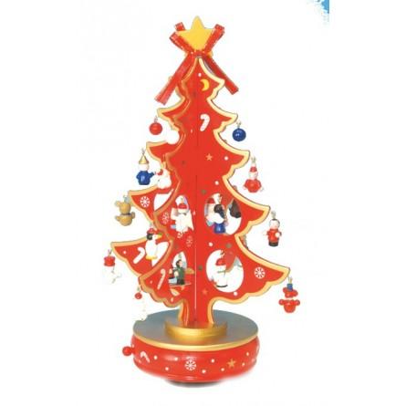 Sapin de Noël rouge 330 mm