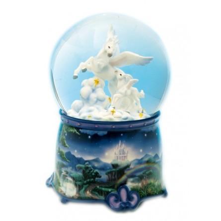 Boule de neige scintillante licorne