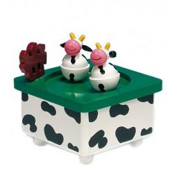 Vaches danseuses en bois