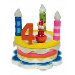 Gâteau d'anniversaire en bois