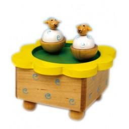 Moutons danseurs en bois