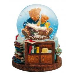 Boule de neige ours en pleine lecture