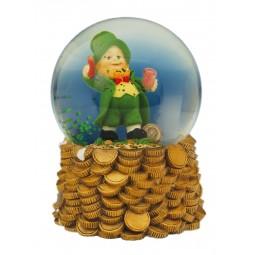 Boule porte-bonheur irlandais avec paillettes