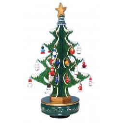 Sapin de Noël vert scintillant 320 mm