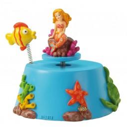 Sirène avec poisson-clown
