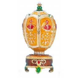 Oeuf style Fabergé avec couronne