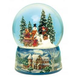 Boule de neige construire un bonhomme de neige