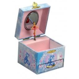 Boîte à bijoux bleue