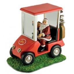 Père Noël dans sa golfette