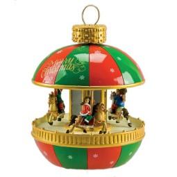 Boule de sapin de Noël genre manège