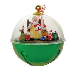 Sapin de Noël boule de neige Santa + elfes