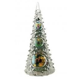Sapin de Noël en verre acrylique