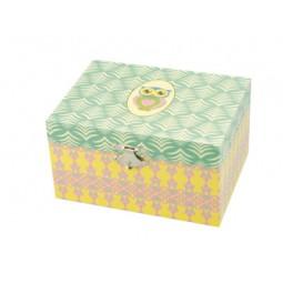 Boîte à bijoux avec motif hibou