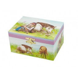 Boîte à bijoux motif cheval