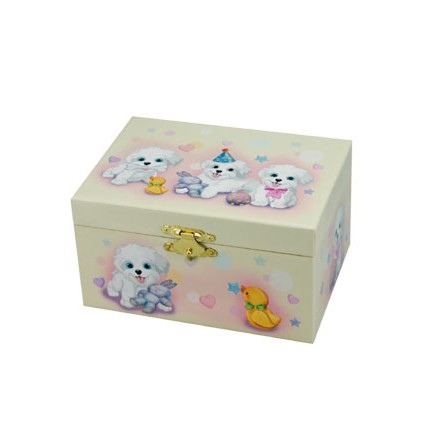 Boîte à bijoux motif chiens