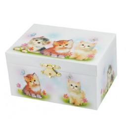 Boîte à bijoux motif chats