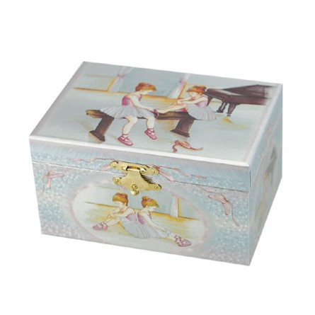 Boîte à bijoux motif ballerines