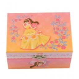 Boîte à bijoux princesse en robe jaune