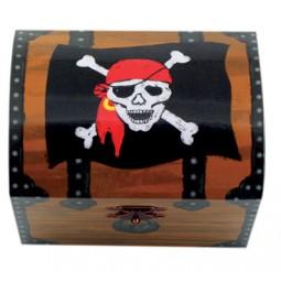Malle à trésors motif pirates