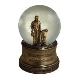 Boule scintillante avec une figurine de Johann Strauss