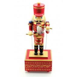 Casse-noisette en bois joueur de tambour