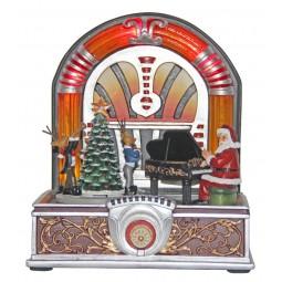 Jukebox avec Père Noël